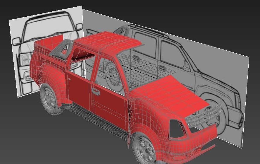 مدلسازی با استفاده از تصاویر(BluePrint)